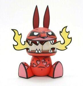 "Loyal Subjects Chaos Bunnies Fire Cat Bunny 4"" Vinyl Ledbetter Art Figure Toy"