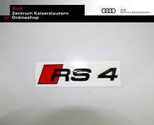 Audi Original RS4 Emblem schwarz glänzend 8W9853740T94 Logo Schriftzug Heck