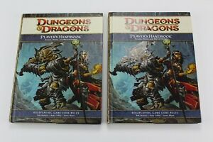 (2) Dungeons & Dragons 4th Edition Player's Handbook Lot of 2 - VF/NM Never Read
