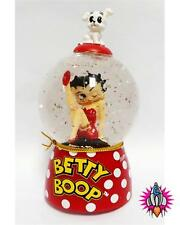 "BETTY BOOP SPARKLER WATER GLOBE POLKA 4"" FIGURE FIGURINE LIGHTS UP BOXED 24067"
