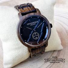 Orologio da polso Uomo in Legno e Acciaio   Men Wood Watch   Uhren Montre Reloj