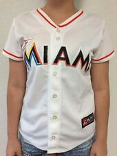 Women's Miami Marlins Majestic White Jersey