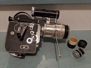 "Bolex Paillard H16 ""De Luxe"" Movie Camera with two Lenses, Leather Case, Manual"