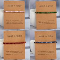 Women Charm Crystal Zircon Square Tennis Bracelet Beads Bracelets Bangle Jewelry