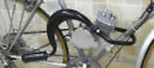 50 / 80cc bike gas engine motor parts - VOODOO pipe exhaust muffler BLACK