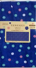 Japanese Hand Towel Traditional Tenugui 100% Cotton Navy dot Free shipping