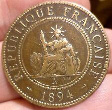 RARE 1 CENTIEME 1894 A INDOCHINE