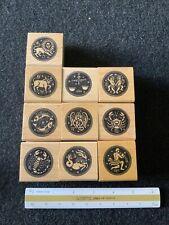 GSSG Astrology Rubber Stamps 10x Vintage Old Stock Astrology Signs Set Rare