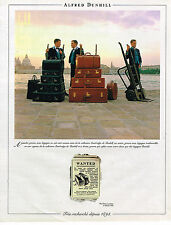 PUBLICITE ADVERTISING 074  1993  ALFRED DUNHILL   valises bagages
