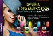 Mia Secret  Multi Color NEON Glow in the Dark Nail Polish 4 colors, U pick 3