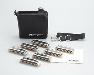 New  SUZUKI Harmonica  MANJI M-20 7SET= G. A. Bb. C. D. E. F = 10 HOLES From JP