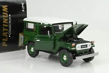 1974 Toyota FJ40 Land Cruiser Hard top grün 1:24 Motormax Platinium