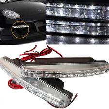 2x Universal Fit Car White LED for Daytime Running Light DRL Fog Driving Lamp 12