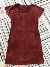 Kookai Red Suede Leather Dress, Size 8