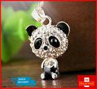 Cute Kitsch Panda Necklace Girls Jewellery Rhinestone Crystal Long Pendant Gift