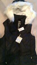 The Children's Place NWT Girl Winter Black Fur Hoddie Jacket Sz M 7/8