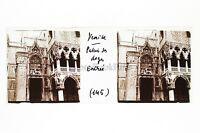 Venice Venezia Italia Placca Stereo Positivo 45x107mm Vintage