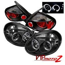 03-05 Dodge Neon Black Altezza L+R Tail Light+Halo Projector SMD Headlight COMBO