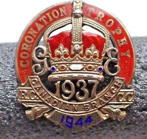 RARE Curling Pin - Coronation Trophy 1937 Canadian Branch R.C.C.C. 1944