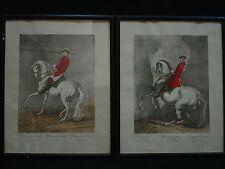 JOHANN ELIAS RIDINGER 2 etchings german artist Vienna Riding School