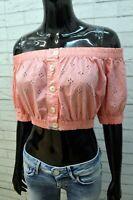 Fendissime Top Blusa da Donna Taglia S Maglia Canotta Shirt Woman Casual Cotone