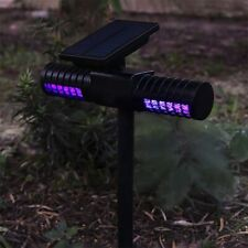 Double Head Solar Powered LED Light Mosquito Pest Bug Zapper Insect Killer Lamp