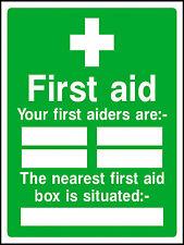 Il tuo primo soccorso pronto soccorso sono, in metallo aluminium sign 150mm x 200mm