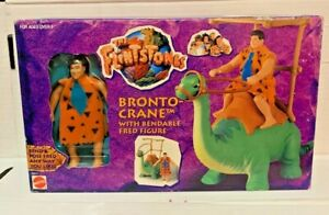 Hanna Barbera The Flintstones BRONTO CRANE Figure Fred NEW CARTOON 1993 Mattel