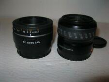 Sony SAL 50mm f/1.8 DT SAM Lens +Minolta Max/SonyA 35-80 1:4-5.6 lens both exc