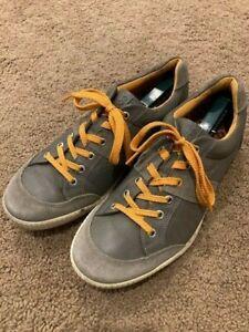 ECCO Men's Golf Street Premiere Shoes size 44 Spikeless Golf shoes, Orange, Gray