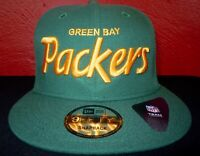 NEW ERA GREEN BAY PACKERS THROWBACK SCRIPT 9FIFTY SNAPBACK CAP / HAT