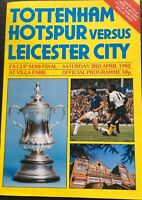 TOTTENHAM HOTSPUR V LEICESTER CITY FA CUP SEMI FINAL 1981/82  MINT