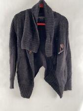 ALL SAINTS Arion Jacket Knit Alpaca Wool Size 4 Charcoal Grey Shawl Gray Sweater