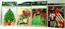 3-D Christmas Cards  New Sealed Packs 8 cards Total
