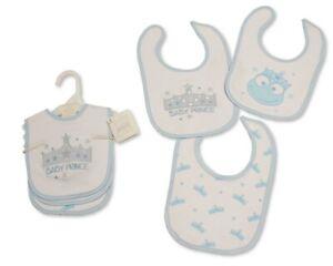 Nursery Time Baby Cotton Bibs 3-Pack - Prince/ Princess - 746/747