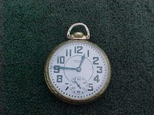 Waltham Premier 21J RR Railroad Pocket Watch 16S Yellow 10K Rolled Gold Plate