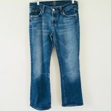 7 For All Mankind Women's Boot Cut Jeans Medium Wash Cotton Stretch 29