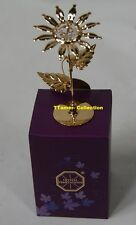 Crystal Temptations SUNFLOWER Ornament Gold Plated with Swarovski Crystals