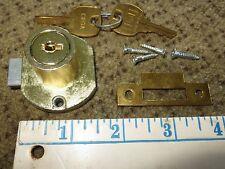National Cabinet Lock Co. C8706 spring loaded beveled drawer lock w/2 keys NEW