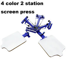 4Color Screen Press Machine for T-shirt bundles Carousel Screen Printing Machine
