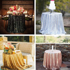 Round Sequin Tablecloth Wedding Cake Table Cloth Sparkle Sequins Linens Events