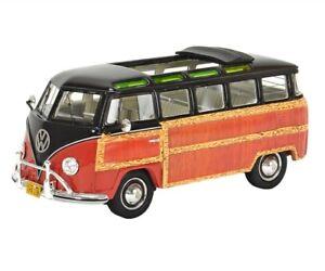 Schuco Resin Model Car 1:43 VW Volkswagen VW T1 Samba Woody brown red