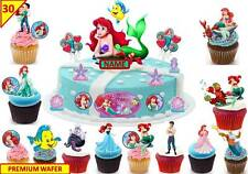 Disney Little Mermaid Cup Cake Scene Toppers Wafer Edible STAND UP PERSONLISE