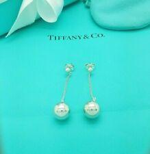 Tiffany & Co. RARE Silver Ball City HardWear Drop Dangle Pierced Stud Earrings