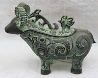 Chinese Bronze Copper Collectable Handwork Carved Sheep statue