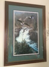 Home Interior flying eagle framed wall picture 33 1/2 x 23 1/2