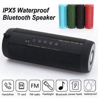 Wireless Bluetooth Speaker Waterproof Shower Portable Outdoor TF FM Radio Stereo