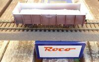 ROCO 47798 H0 offener Güterwagen gealtert mit Gipsladung FS Epoche 4, neuwertig