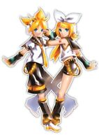 Vocaloid Len & Rin Anime Car Decal Sticker 003