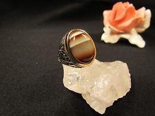 Silberring Männerring Siegelring Ring Sterlingsilber 925 Handarbeit Achat